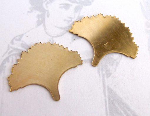 Brass Engraving Ginko Leaf