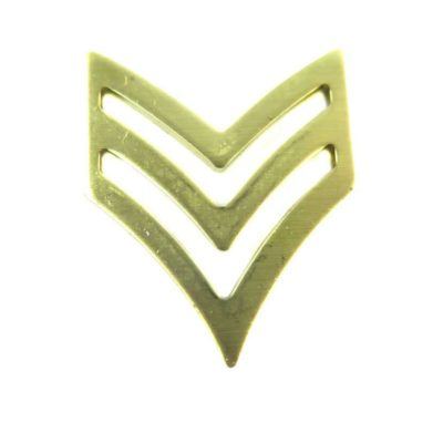 brass military chevron pendant