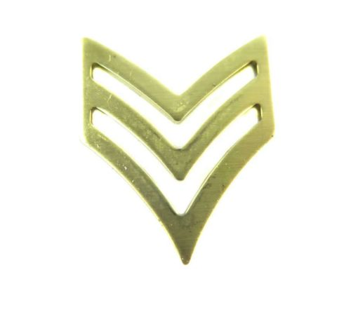 brass military chevron pendant