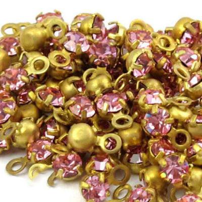 pink rhinestone Swarovski charms