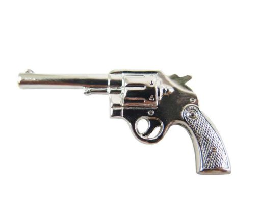 Large Rhodium Plated Pistol Gun Charms