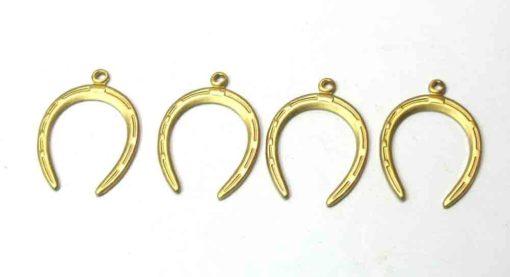 Brass Horseshoe Charms