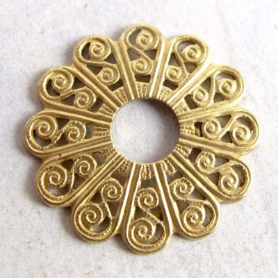Brass Round Filigree Flower