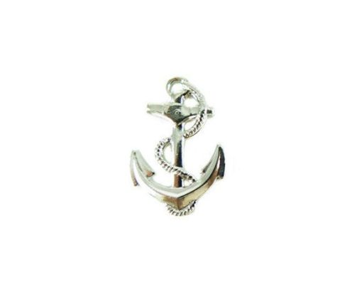 Rhodium Plated Anchor and Rope Charms