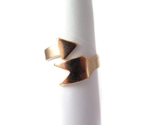 Rose Gold Plated Arrow Adjustable Engraving Ring Findings
