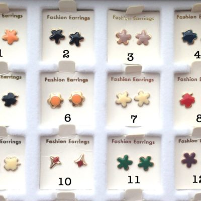 Vintage Enamel Stud Earring Flower Collection - You Choose - 1 Pair
