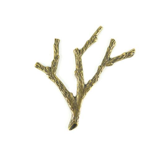 branch charm - ant brass