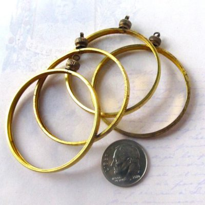 Brass Coin Holder Pendants