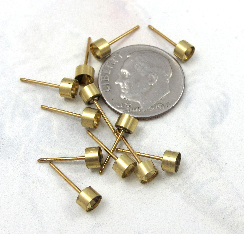 50pc Raw Brass Nautical Medium Sanddollar Charms 4868