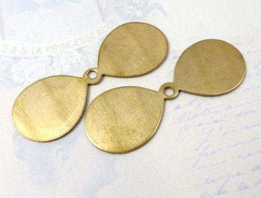 fan blade flower petal brass charm