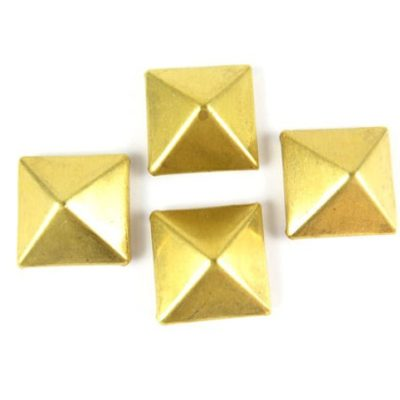 brass 3d pyramid charms