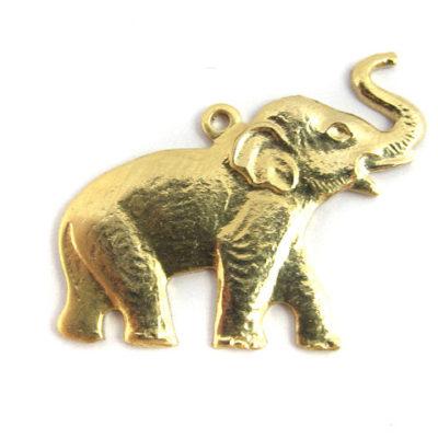 brass elephant charm