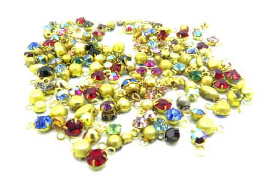 mixed colorful rhinestone charms