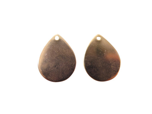 rose gold plated engraving teardrop charms