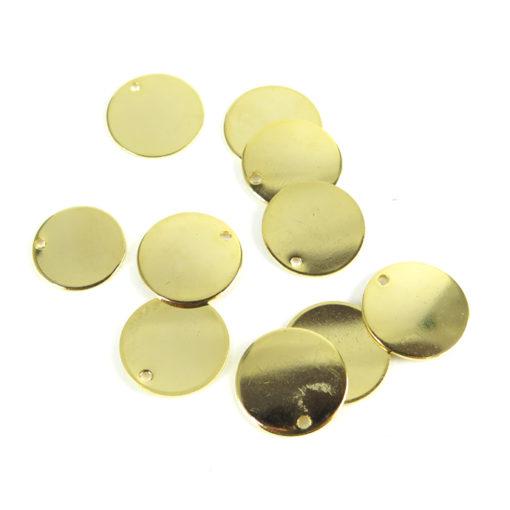 small engraving circle - gold