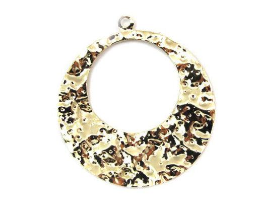 vintage gold plated round hoop pendants