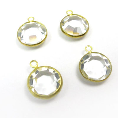 clear Swarovski channel charms