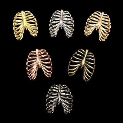 anatomical human rib cage pendants all finishes
