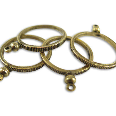 v163 antiqued gold plated faux coin holders
