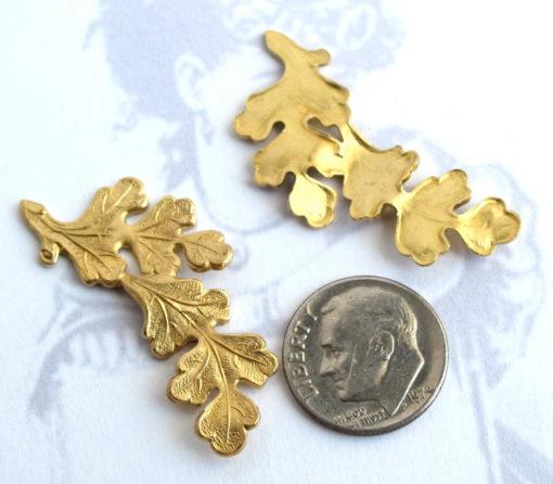Brass Leaf Branch Penda