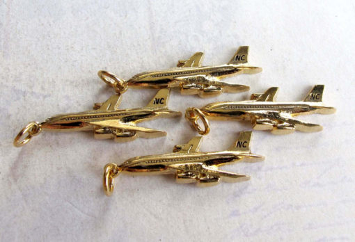 Gold plated airplane charms