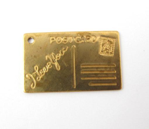 PS I Love You Post Card Pendants