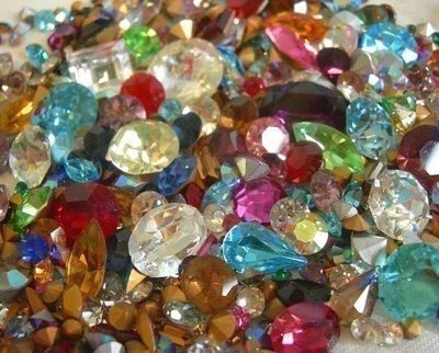 crystal rhinestone assortment glue components