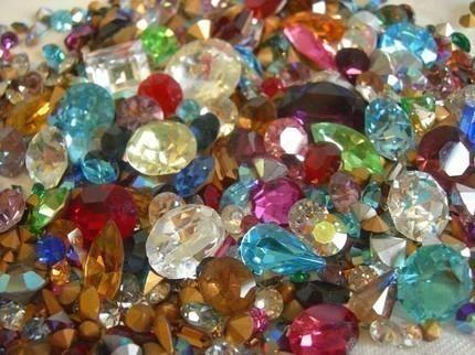 crystal rhinestone assortment glue components