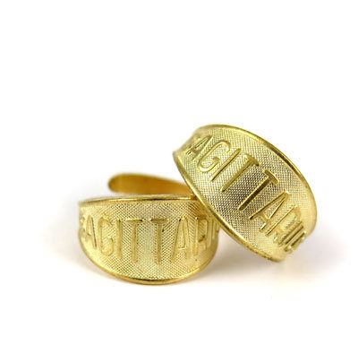 Raw Brass Astrological Sign Ring - SAGITTARIUS