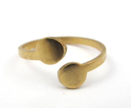 Raw Brass Circle Adjustable Engraving Rings (J603)