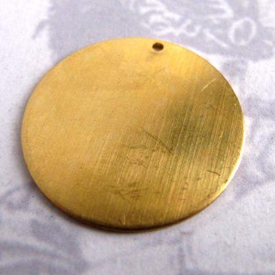 28mm brass circle engraving blank