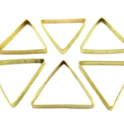 Raw Brass Geometric Triangle Charms