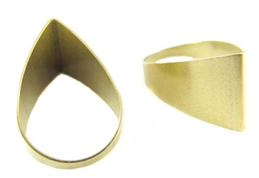 Raw Brass Tapered Cut Teardrop Charms