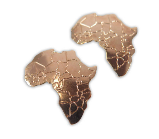 rose gold plated Africa pendants