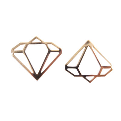 Rose Gold Plated Contour Diamond Charms