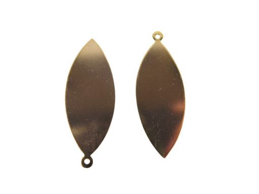 Rose Gold Plated Pointed Oval Engraving Pendants
