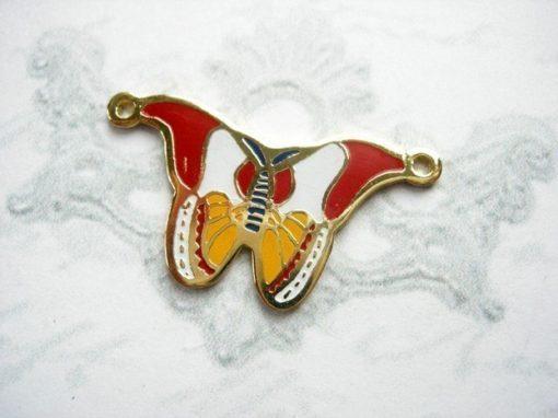 Vintage Enamel Butterfly Pendants
