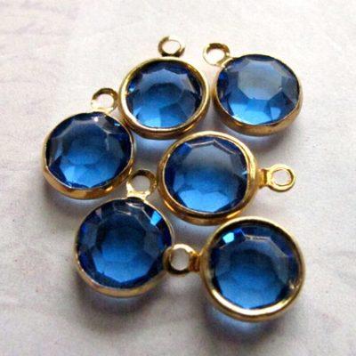 aqua blue channel Swarovski charms