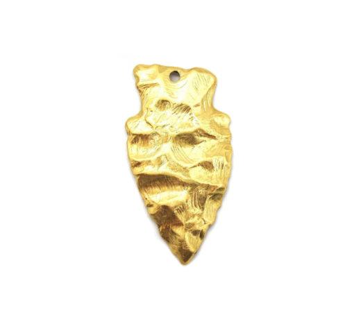 brass arrowhead pendant