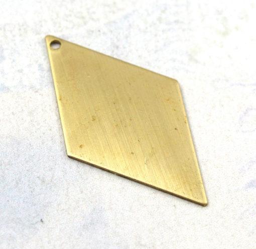 Brass Long Diamond Engraving Charms (8X) (M583)