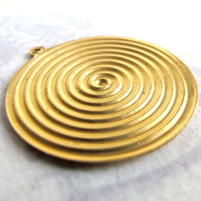 large brass spiral pendants