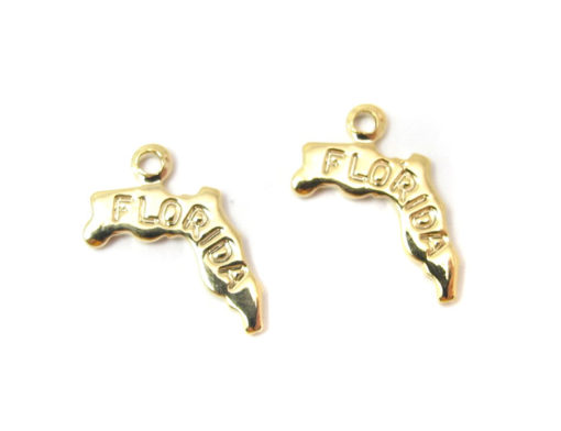 gold plated Florida state charms