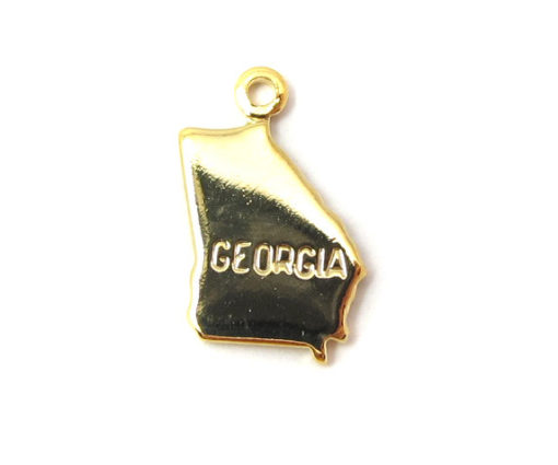 gold plated Georgia state charms