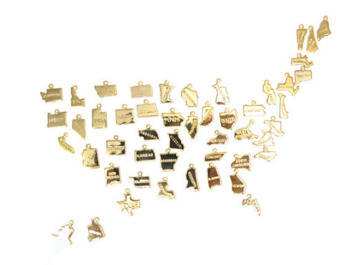 ENGRAVED - Tiny Gold Plated State Charms