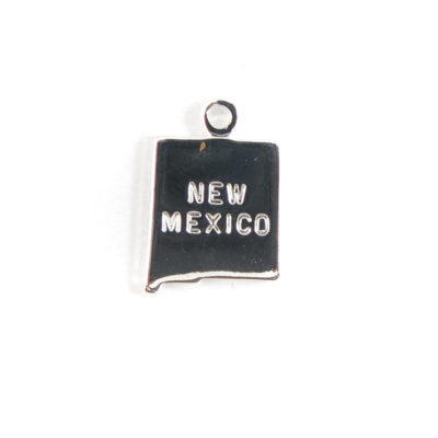 Engraved Tiny SILVER Plated on Raw Brass New Mexico State Charms