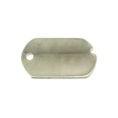 rhodium plated dog tag