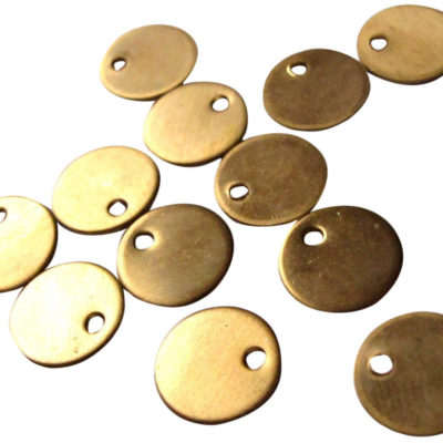 Raw Brass Engraving Circle Charms