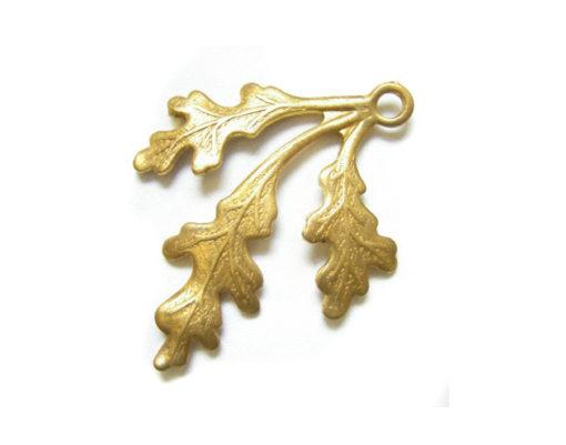 Raw Brass Leaf Charms
