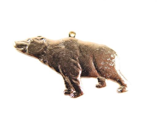Rose Gold Plated California Bear Pendants