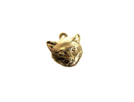 Small Brass Cat Charms